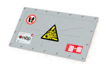 Flat Rectangular Explosion Vent Panel for Explosion relief