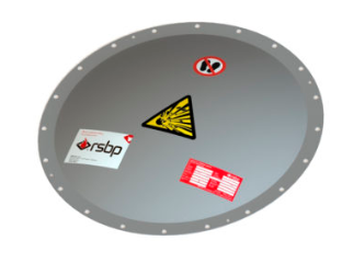 Round domed explosion vent panel - euratex